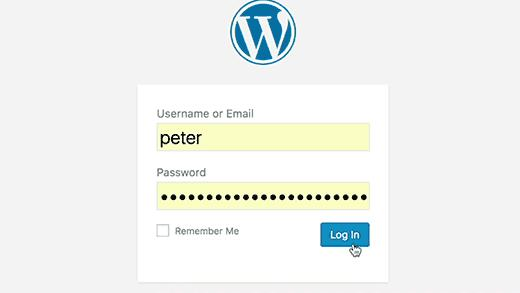 WordPress login redirect error