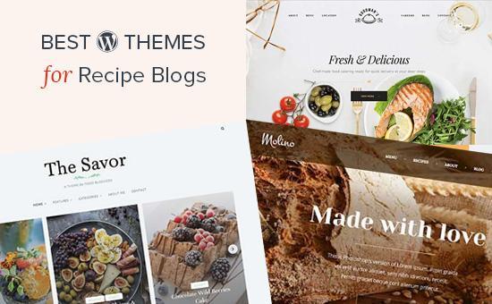 Best WordPress themes for recipe blogs
