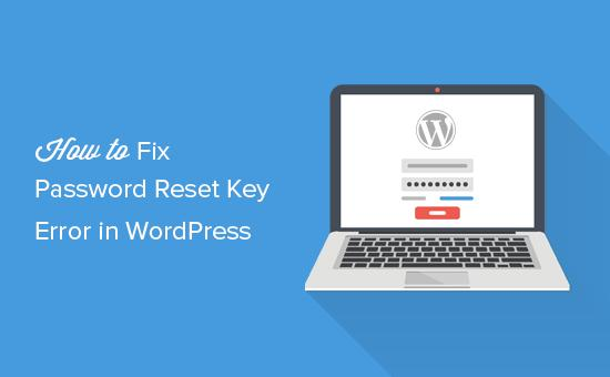Fixing Could not save password reset key to database error in WordPress