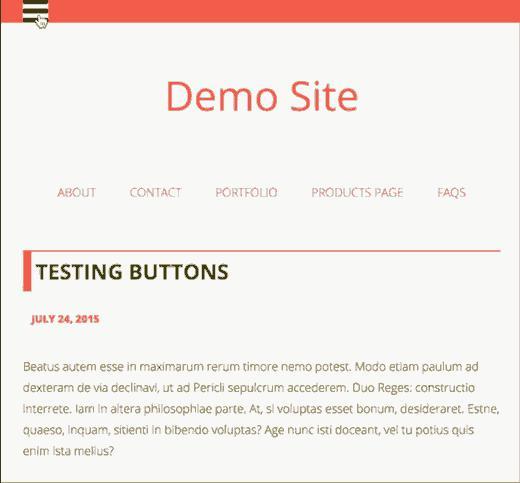 Fullscreen responsive menu in WordPress