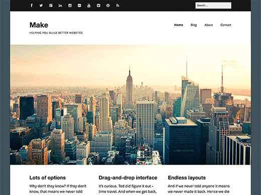 Make - Business Theme for WordPress Free