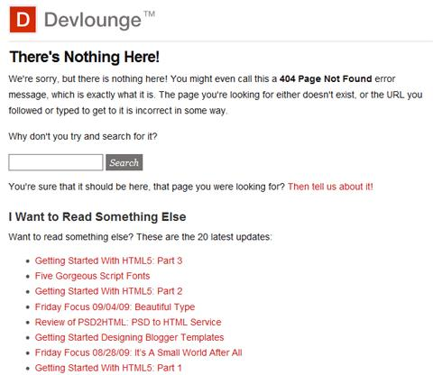 Devlounge 404 Page
