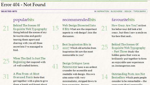 Inspiration Bit 404 Page