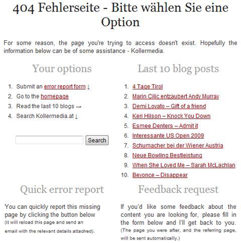 Kollermedia 404 Page