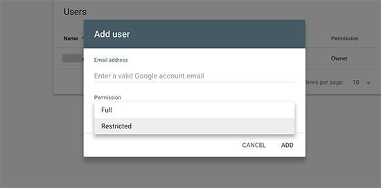 搜索控制台访问新用户