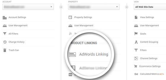 将AdWords与谷歌分析相关联