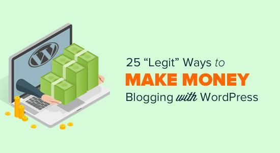 用WordPress赚钱在线博客