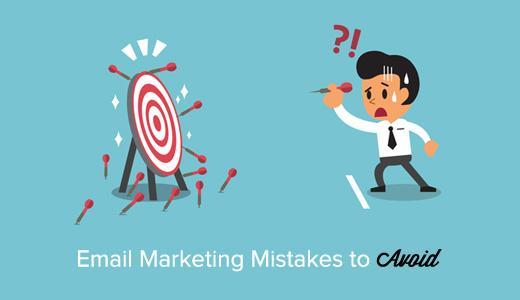 电子邮件营销的错误要避免