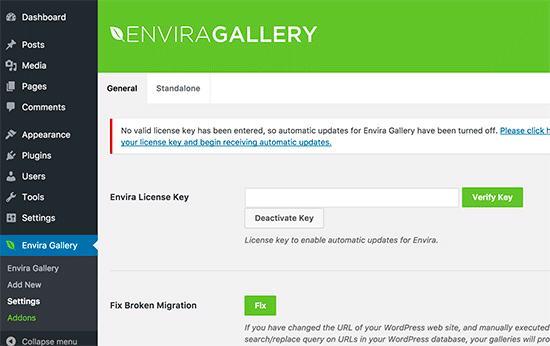 Envira Gallery license