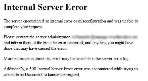 内部服务器错误