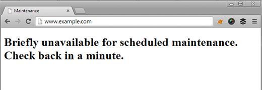 WordPress不可用于维护错误