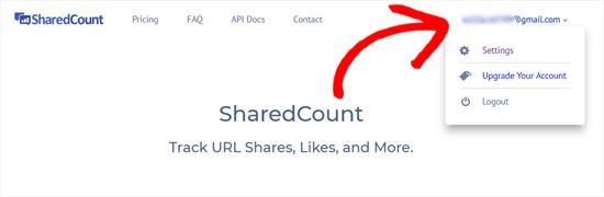 SharedCounts.com account verified