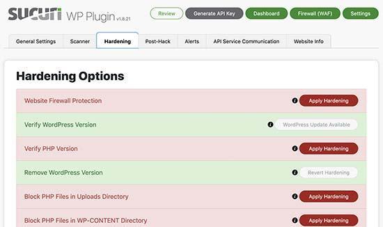 Hardening WordPress security with Sucuri