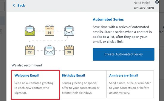 Adding a contact to your email list