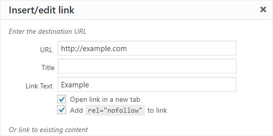 Add Link to WordPress Classic Editor