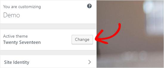 Change WordPress Theme from Customizer