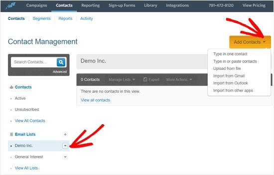 Add Contacts to Your Constant Contact Email List