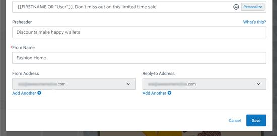 Personalize Subject Line for Your Email Blast in Constant Contact