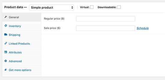 Adding product data