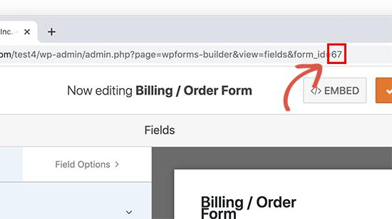 Finding form ID in WPForms