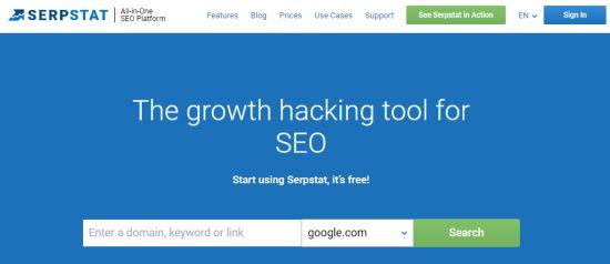 The Serpstat tool