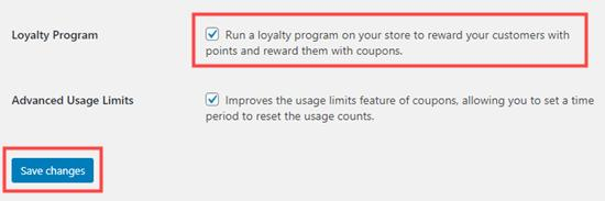 Enabling the loyalty program in Advanced Coupons